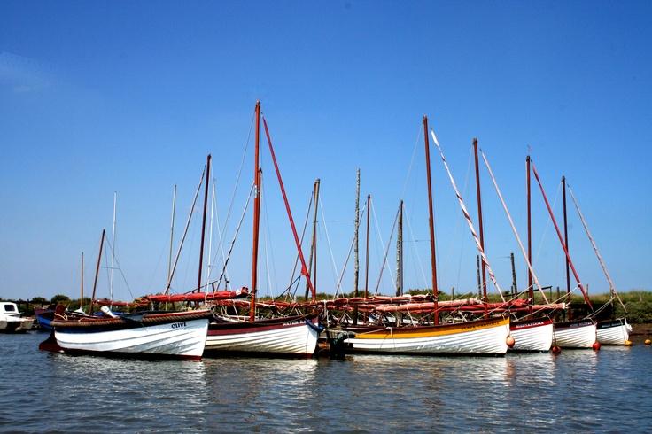 Boats at Morston Quay, North Norfolk, UK