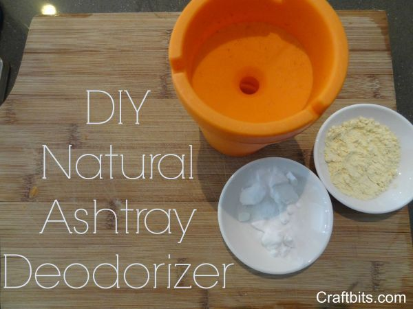This project shows you how to make a natural Ashtray Deodorizer. How to get rid of Ashtray Cigarette smell or tobacco smell