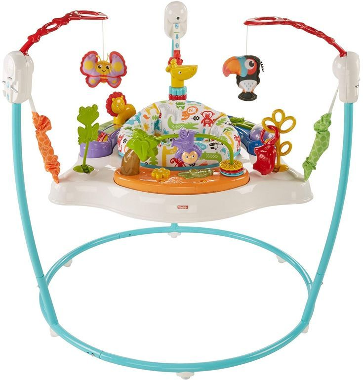 Your Baby Will Go Wild Visiting This Exciting Jungle And All Its Fun Activities A Rotating Seat Gives Little Ones 360 Jumperoo Animal Activities Fisher Price