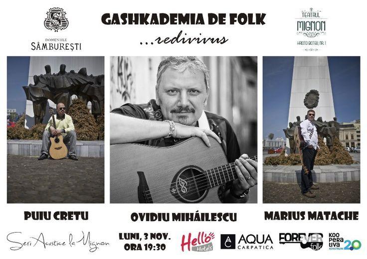 Alaturi de Puiu Cretu si Ovidiu Mihailescu in Gashkademia...redivivus la Teatrul Mignon, 3 noiembrie