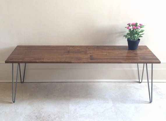 48x16 Long Narrow Wood Coffee Table Great For By Goldenrulenyc
