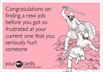 ecards congratulations new job funny