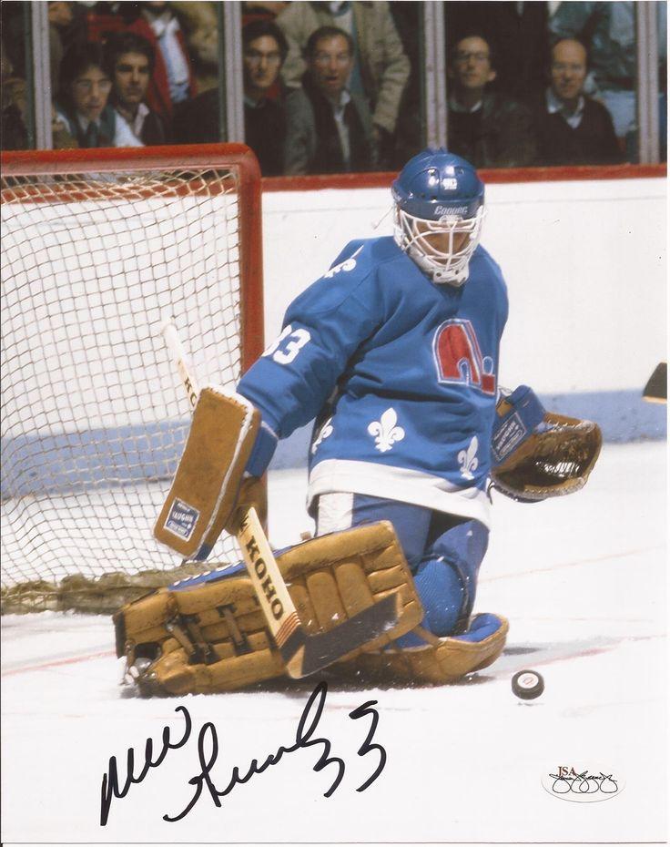 Mario Gosselin Quebec Nordiques Autographed 8x10 Photograph (