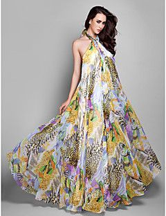Formal Evening/Prom/Military Ball Dress - Print Plus Sizes S... – USD $ 39.99