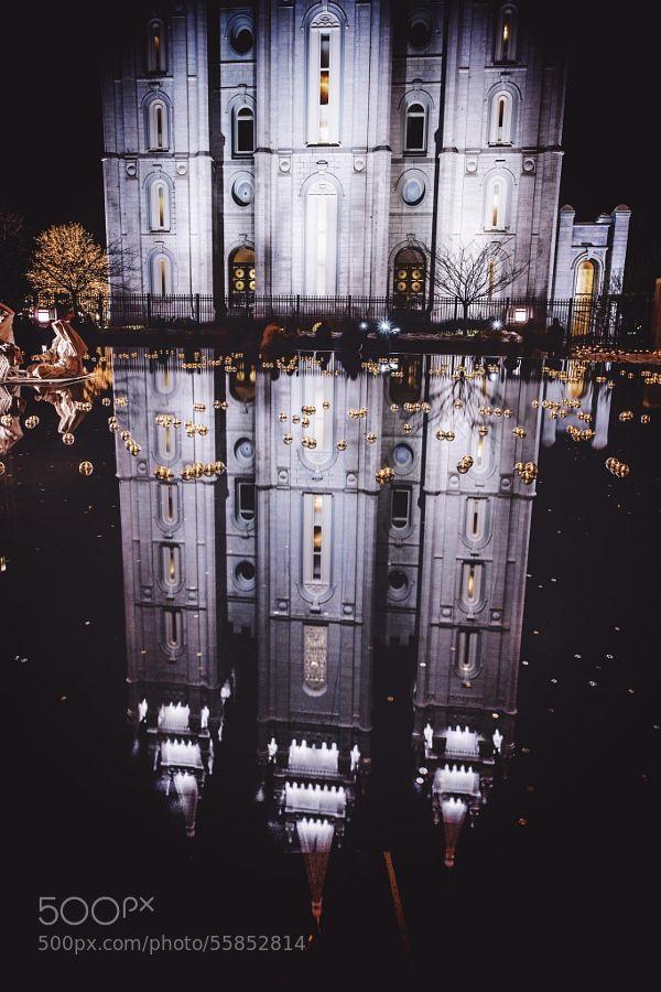 Salt Lake City Temple @ Christmas by wayne_li