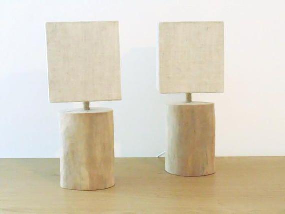 Lot De 2 Lampes Bois Flotte