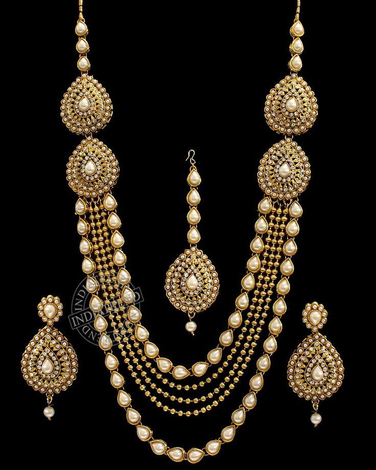 Minisha Necklace Set  by indiatrendshop.com