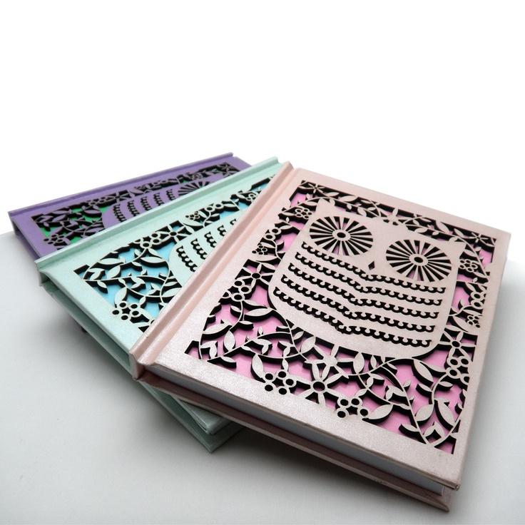 Owl Laser Cut Notebook   Jam Art Prints