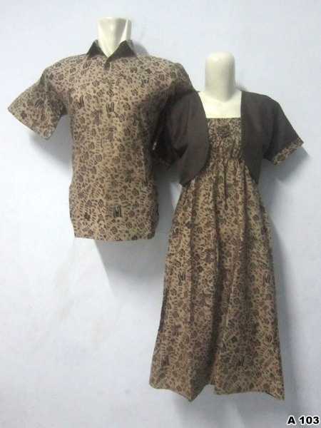 Batik Dress Couple A103 | IDR 135.000 | bahan : Katun | Size M, L, XL | Order : 081333303545