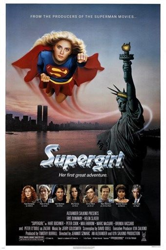 1984 classic movie poster SUPERGIRL action hero HELEN SLATER new york 24X36