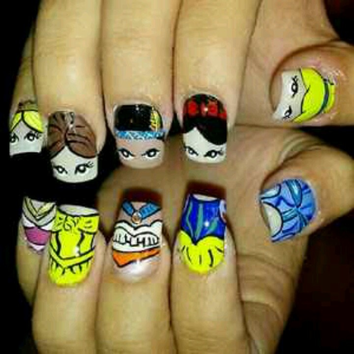 Princess Themed Nails: 481 Best Images About Disney Nails On Pinterest