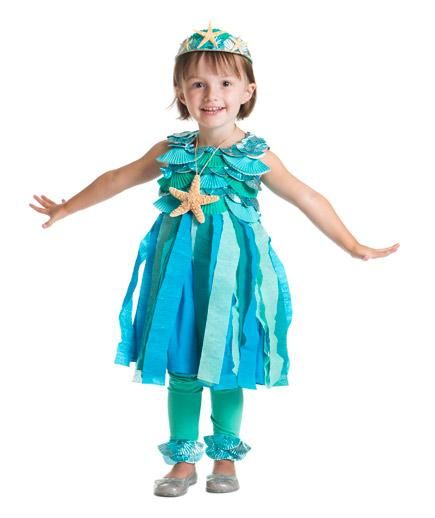 24 Homemade Kids Halloween Costumes: Easy No-Sew DIY Mermaid Costume
