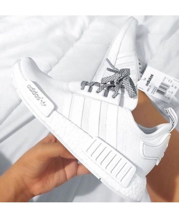 attractive price lace up in new products Adidas NMD R1 Trainers In Reflektierend Weiß Trainers Sale ...