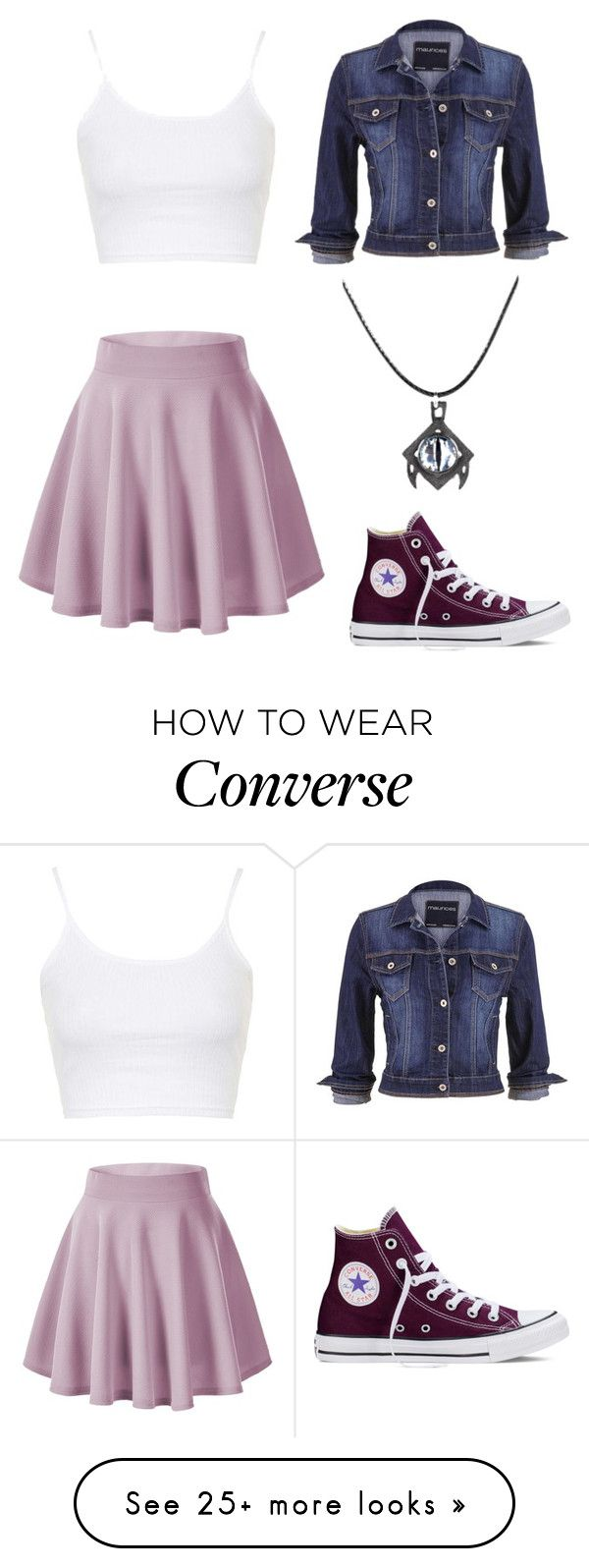 """""""Meet me :)"""" by angela229 on Polyvore featuring Topshop, Converse, maurices, women's clothing, women, female, woman, misses and juniors"""
