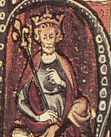 Cnut the Great (985 or 995 - 1035). King of Denmark from 1018 until he died in 1035. King of England from 1016 until 1035. King of Norway from 1028 until 1035. King of Sweden from 1026 until 1030. He married twice and had two children with each wife. He is considered a great warrior king.