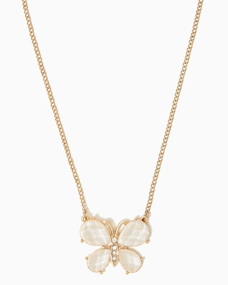 charming charlie | Shimmering Butterfly Necklace | UPC: 410007060875 #charmingcharlie