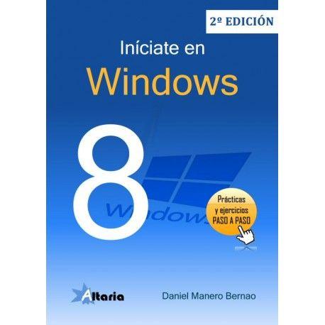 """""""Iníciate en Windows 8"""" de Daniel Manero Bernao. Manual sencillo de seguir, que sirva también como herramienta de trabajo en centros de formación. Nos adentra en la nueva interfaz, barras de comandos de sistema y de aplicaciones, la aplicación escritorio, Windows Store, nuevas características del navegador Explorer 10, ajustes, redes y seguridad y, finalmente, nos adentramos en las búsquedas de archivos y aplicaciones, configuración e interactuación entre aplicaciones... Signatura: 004.4 MAN…"""