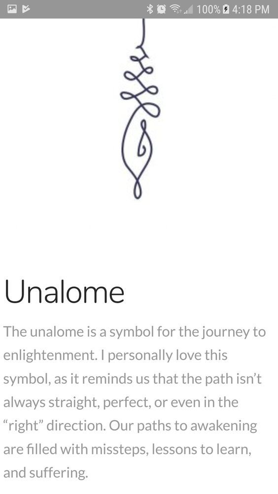The Unalome: {Unalome} The Unalome Is A Symbol For The Journey Of