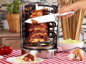 MINI Doner Kebab Shawrama Electric Machine Home Garden Catering RollerGrill Gyro Gyros - Commercial-Catering