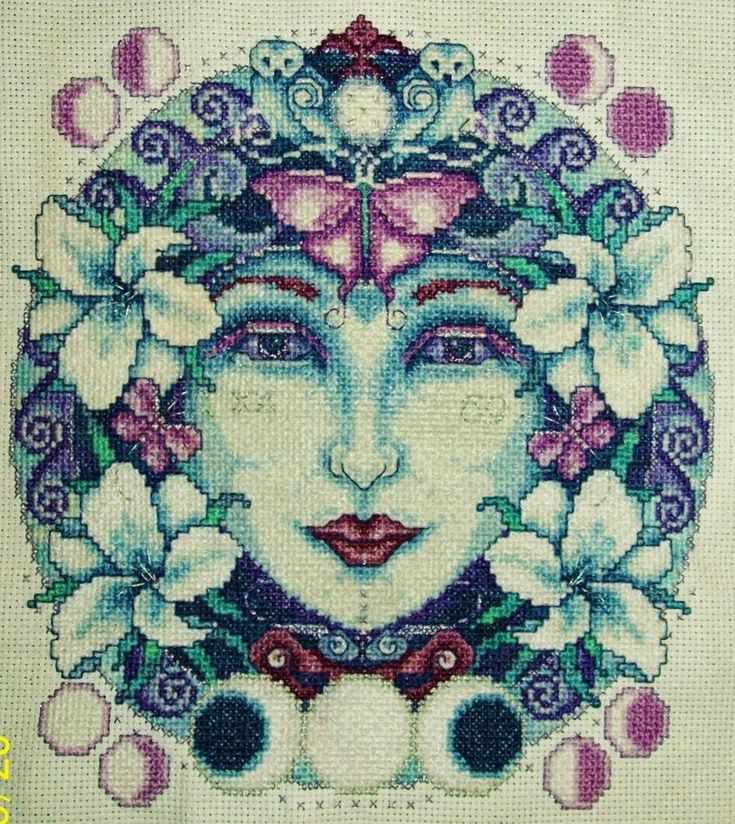 Moon Goddess Cross-Stitch by ~HaleyGeorge on deviantART