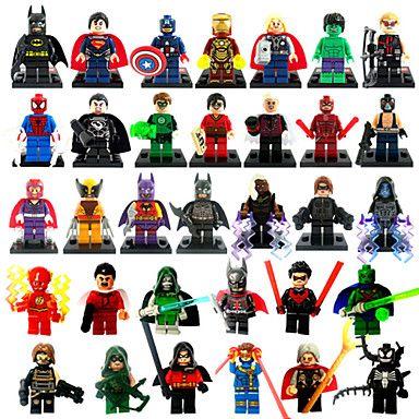 Marvel™ Set of 33 Super Hero Minifigure Models. Only at www.pandadeals.co.uk