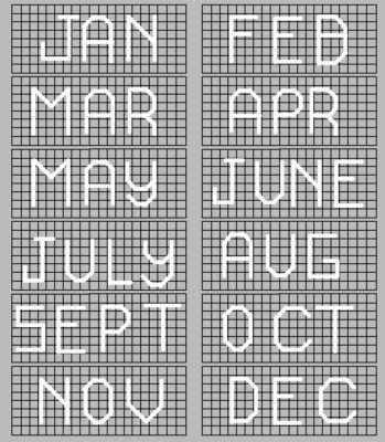 Plastic Canvas Calendar Pattern   Craftingranny's Craft & Sewing Room