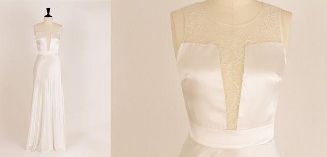 Marjolaine Chen creates romantic, light dresses with a dreamy laces.