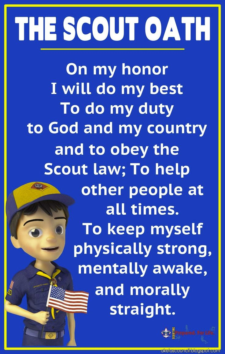 Akelas Council Cub Scout Leader Training * - Scout Law Poster & Scout Oath Poster that can be printed 11x17, 20x30, or 24x36