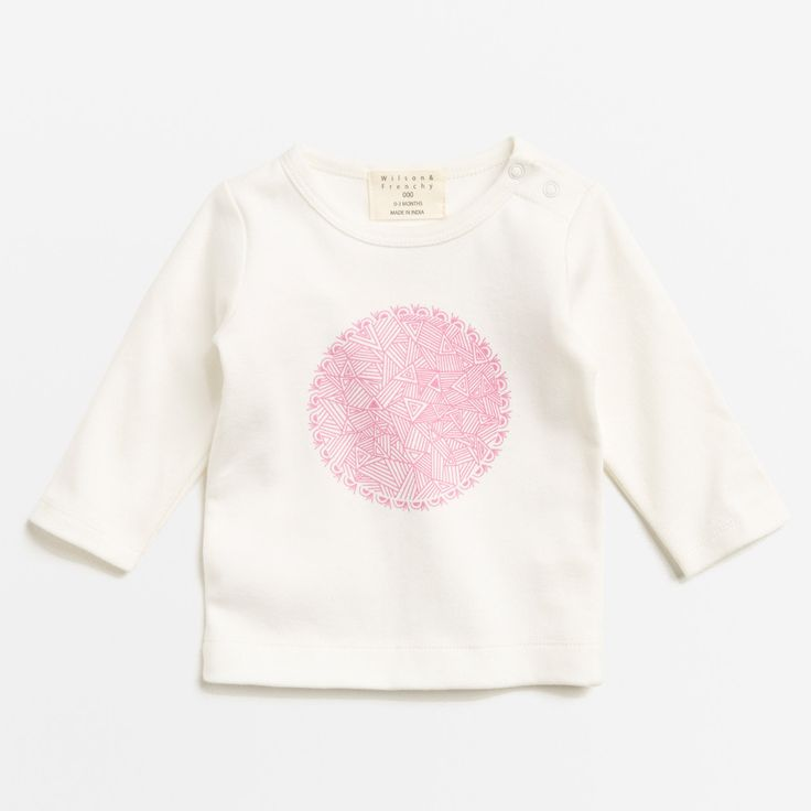 Willows Children's Boutique | Geo Flower Top | By Wilson & Frenchy | Baby Girls Clothing | Online Baby Boutique