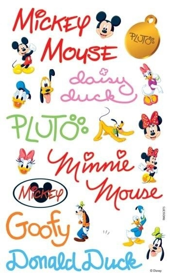 Disney's Signatures Mickey Mouse, Minnie Mouse, Donald Duck, Daisy Duck, goofy, Pluto