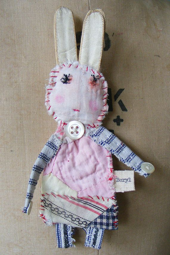 .. bunny ---> by hensteeth Ears are old leather gloves