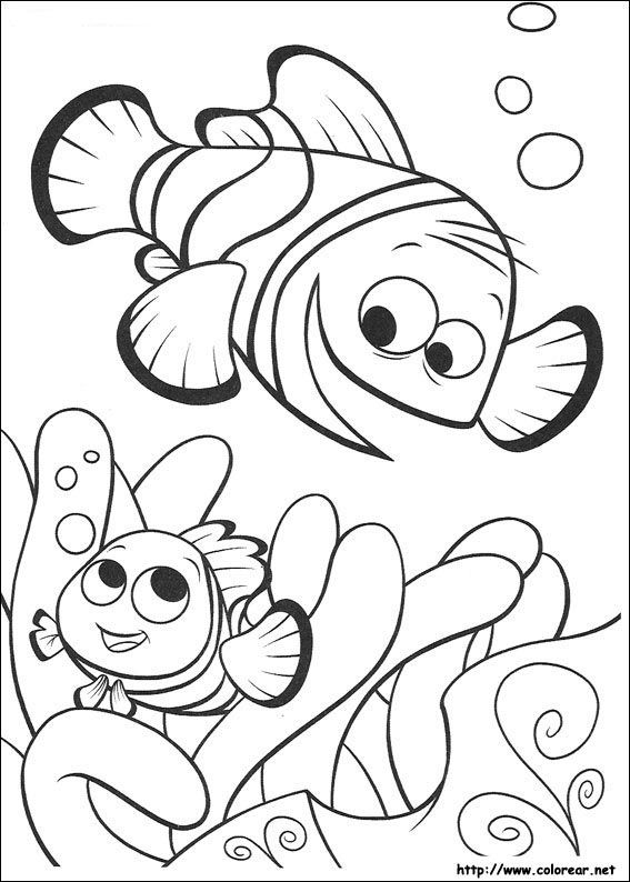 8 best Filme Nemo images on Pinterest   Children coloring pages ...