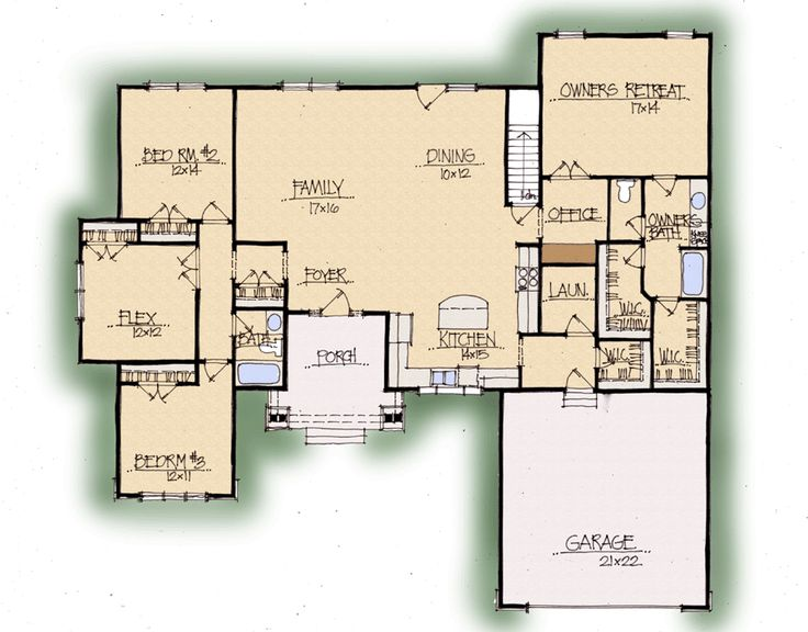 Honeysuckle home plan earnhardt collection by for Custom home builder floor plans