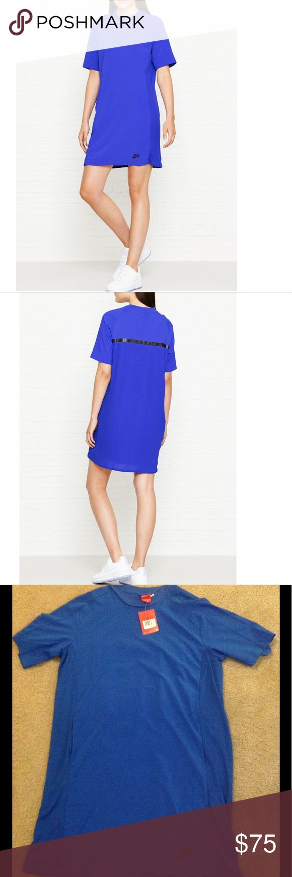 💙💙💙💙Nike Dress💙💙💙💙 💙💙💙💙💙Nike sportswear bonded dress. In a royal blue color with pockets. With a crew neckline and ribbed flowing back. It hits right above the knee. Made from 88% polyester and 12% spandex. With a 100% cotton lining.💙💙💙💙 Nike Dresses