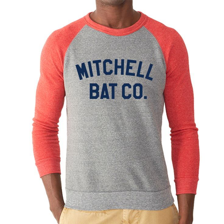Bat graphic print Unisex tri-blend raglan sleeve Sweatshirt