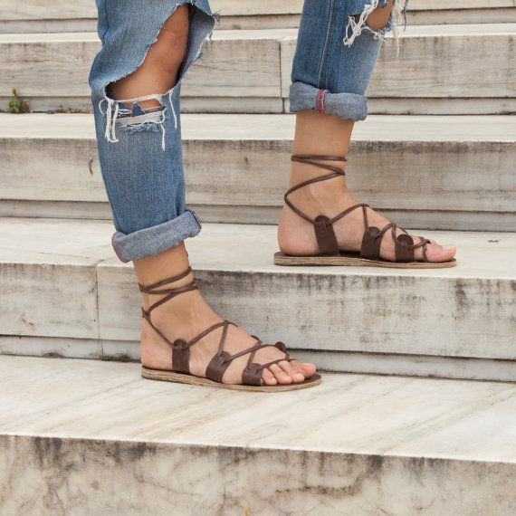Our Leather: All our sandals are made from genuine Greek and Italian leather. We source leather from local tanneries and each cowhide is made based on our