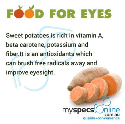 Including sweet potatoes in diet can help you improve eyesight.