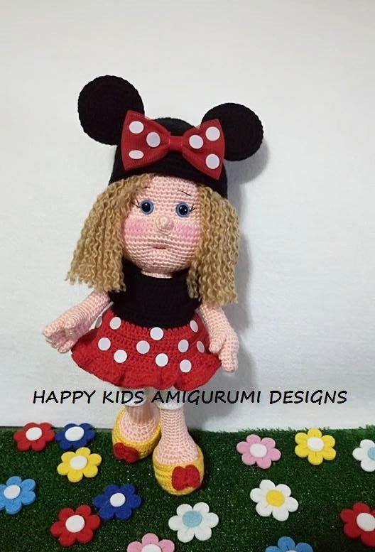 The Girl  With Minnie Mouse Costume  -Amigurumİ Crochet Pattern- PDF