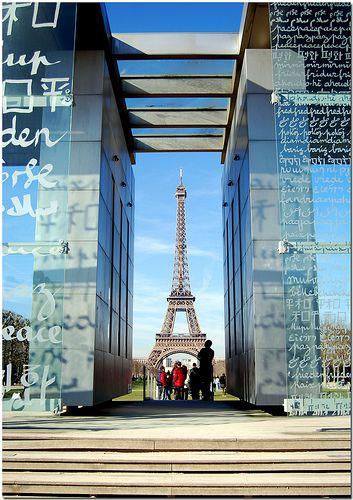 The Wall for Peace, Paris: Eiffel Towers, Paris Dreams, Peace, Beautiful Wonder, Europe Architecture, Travel, Landmarks France, La Tours, Places France