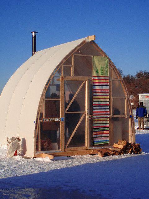 Ice Fishing Houses - Bing images