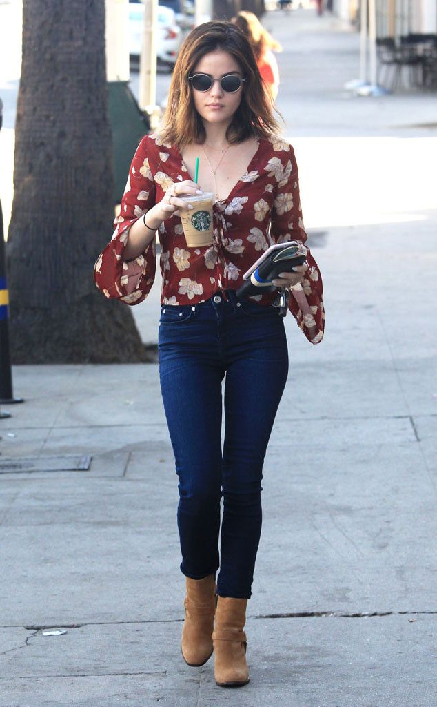 Lucy Hale from The Big Picture: Today's Hot Pics The Pretty Little Liars actress gets her caffeine fix in Studio City, Calif.