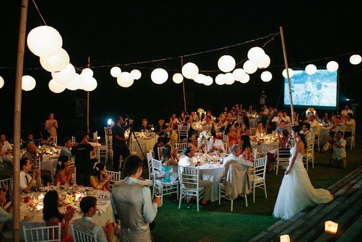 Beautiful evening w/ White tiffany chairs and white lanterns w/ @BaliUltimate