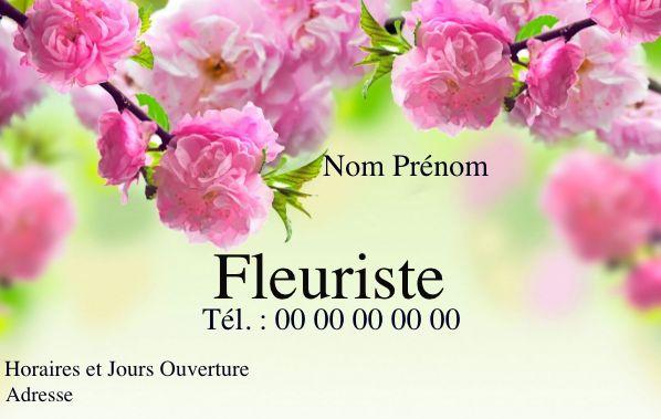 Carte de visite fleuriste, créez gratuitement à partir de modèle en ligne votre Carte de visite Fleuriste, mariage, enterrement