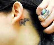 baby elephant tattoo i want a baby giraffe