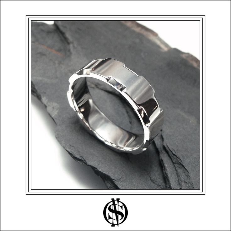 18K White gold #wedding #ring for #Men - by NSO