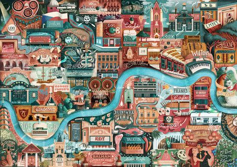 Illustrated map of London's great little places: A1 size – Great Little Place Store