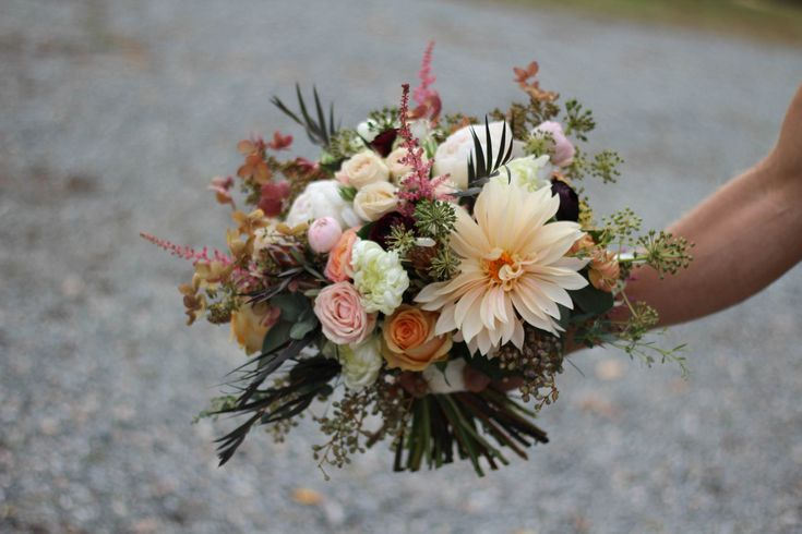 https://flic.kr/p/BxC3AH | October botanical bouquet | with roses, dahlias mums astilbe berries