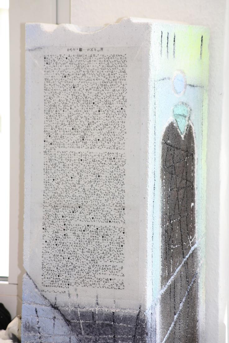 """Skulptur """"Brief an mein Leben""""  Erkennungszeichen und Geheimnis gleichzeitig..."""