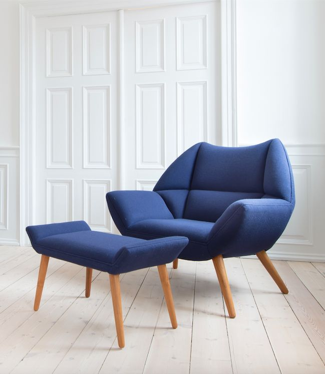Armchair dressed in Kvadrat Hallingdal 65 by Modern Danish Furniture