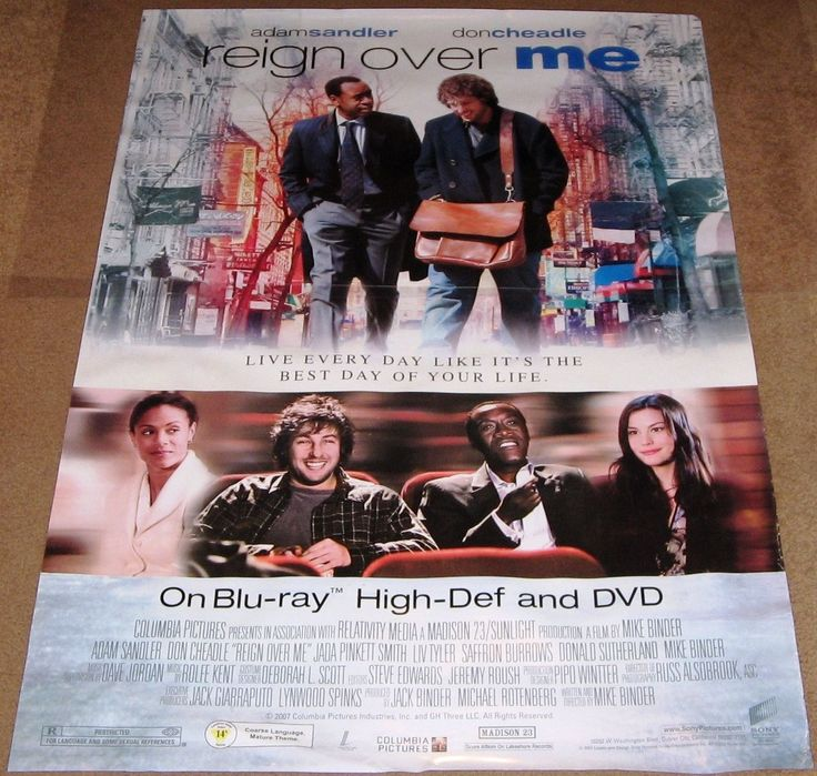 Reign Over Me Movie Poster 27x40 Used Don Cheadle, Gina Fricchione, Denise Dowse, Lou Irizarry, Robert Harvey, Rae Allen, Liv Tyler, Donald Sutherland, Jonathan Banks, Tommy Nohilly, Joey King, Anthony Chisholm